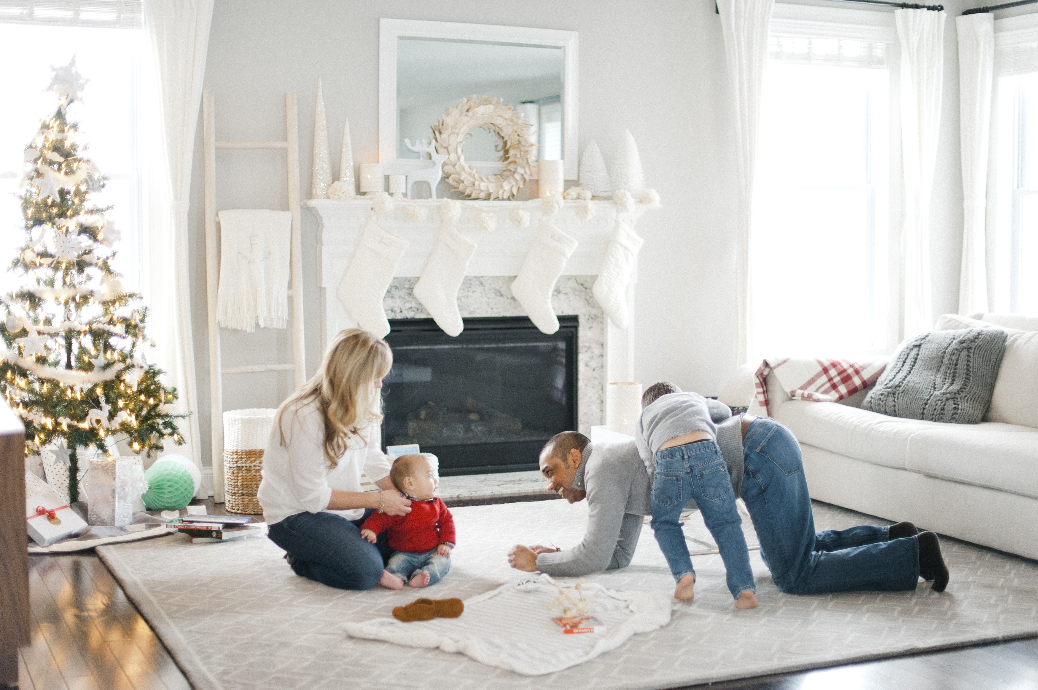 Holiday Sale - Family in Living Room