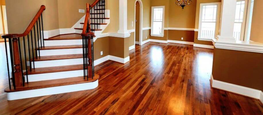 beautiful residential hardwood floor in bucks county pa
