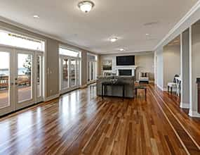 Contemporary Home with Hardwood Floors and New Patio Doors