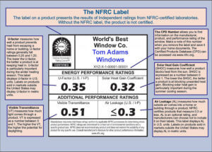An NFRC Label Example